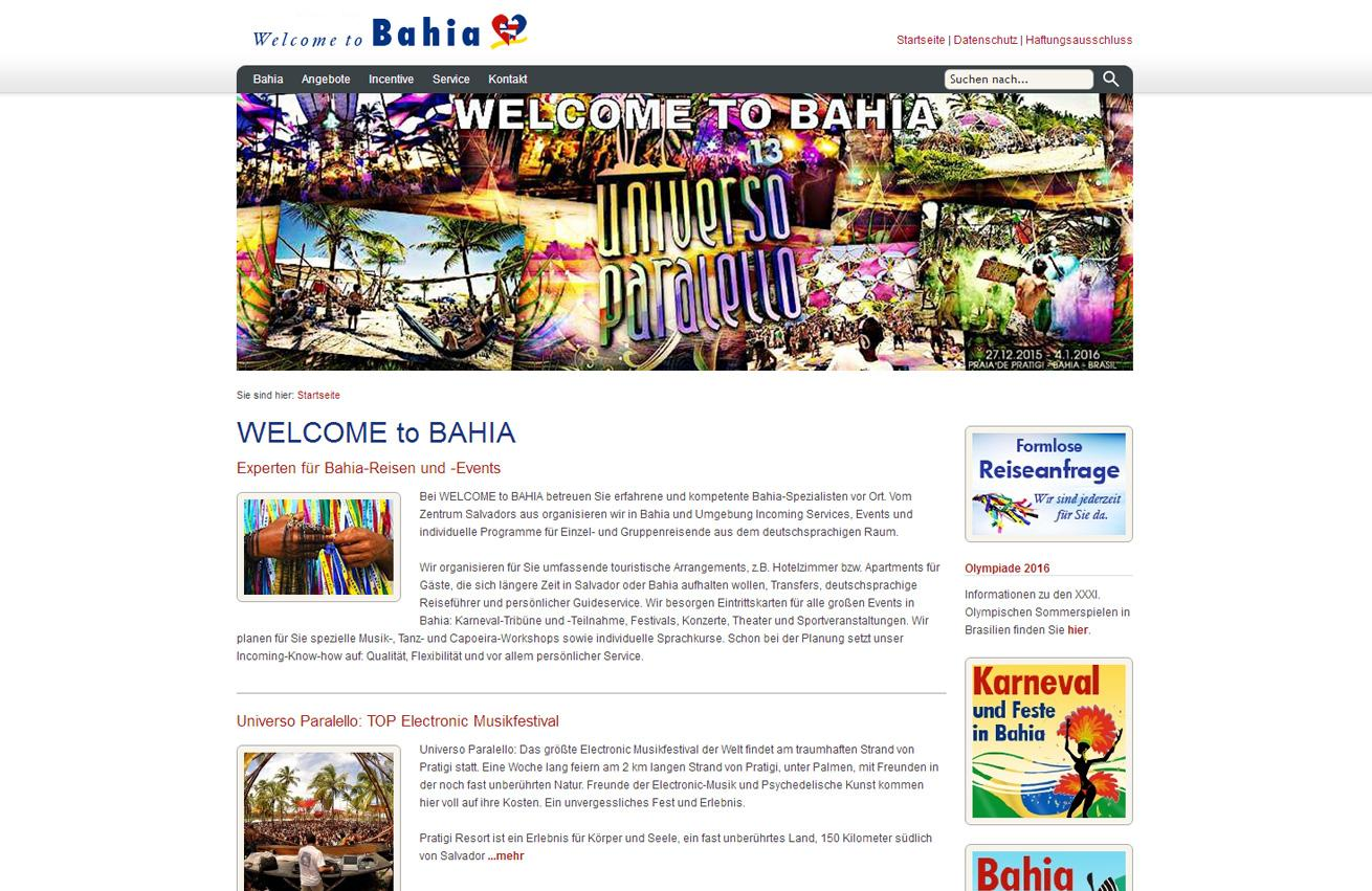Galerie Webdesign Welcome to Bahia